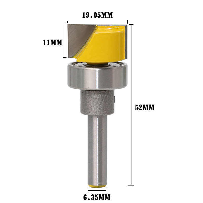 3//4 W X 7//16 H Bottom Cleaning Straight end Mill Trimmer Cleaning Flush Trim Size : 2-1//4 1pc Nologo Huh-PAOHUAZT 1PC Hinge Mortise//Template Router Bit