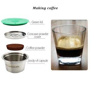 Image 4 - Capsules rechargeables et réutilisables en métal pour Machine dolce gusto, en acier inoxydable, café cadeau
