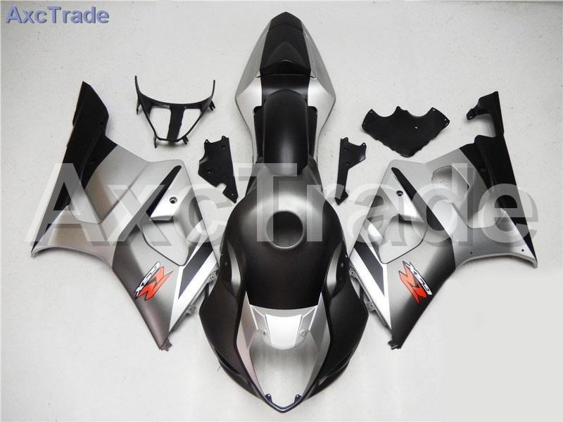 Motorcycle Fairings For Suzuki GSXR GSX-R 1000 GSXR1000 K3 2003 2004 03 04 ABS Plastic Injection Fairing Bodywork Kit Silver injection mold 100% fit for suzuki gsxr1000 03 04 k3 silver black fairings set gsxr 1000 2003 2004 k4 yi119