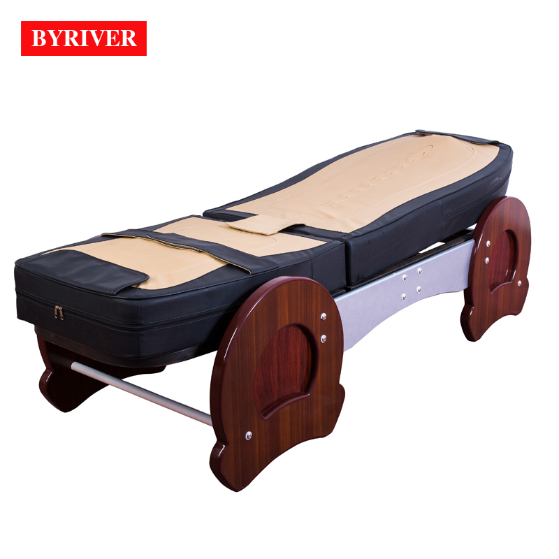 Image 3 - BYRIVER Best Version Roller Lift 3D Therapy Massage Bed Thermal Massager 9+4 Jade Roller Add Back Incline Decline function    -