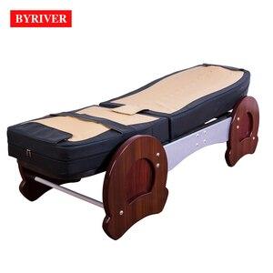 Image 3 - BYRIVER cama de masaje de terapia 3D, rodillo de Jade 9 + 4, función de reducción de inclinación de espalda