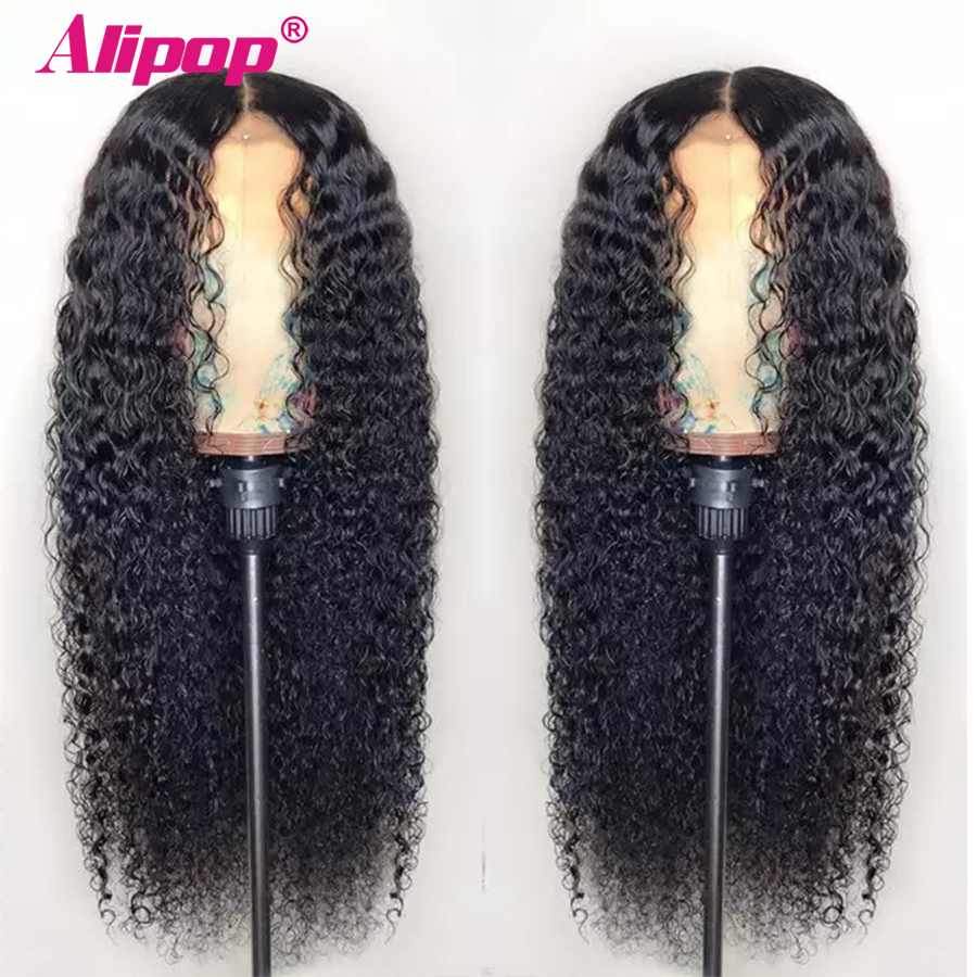 Alipop 13x6 Lace Front Human Hair Wigs For Women Remy Malaysian Kinky Curly Lace Front Wig Pre Plucked With Baby Hair