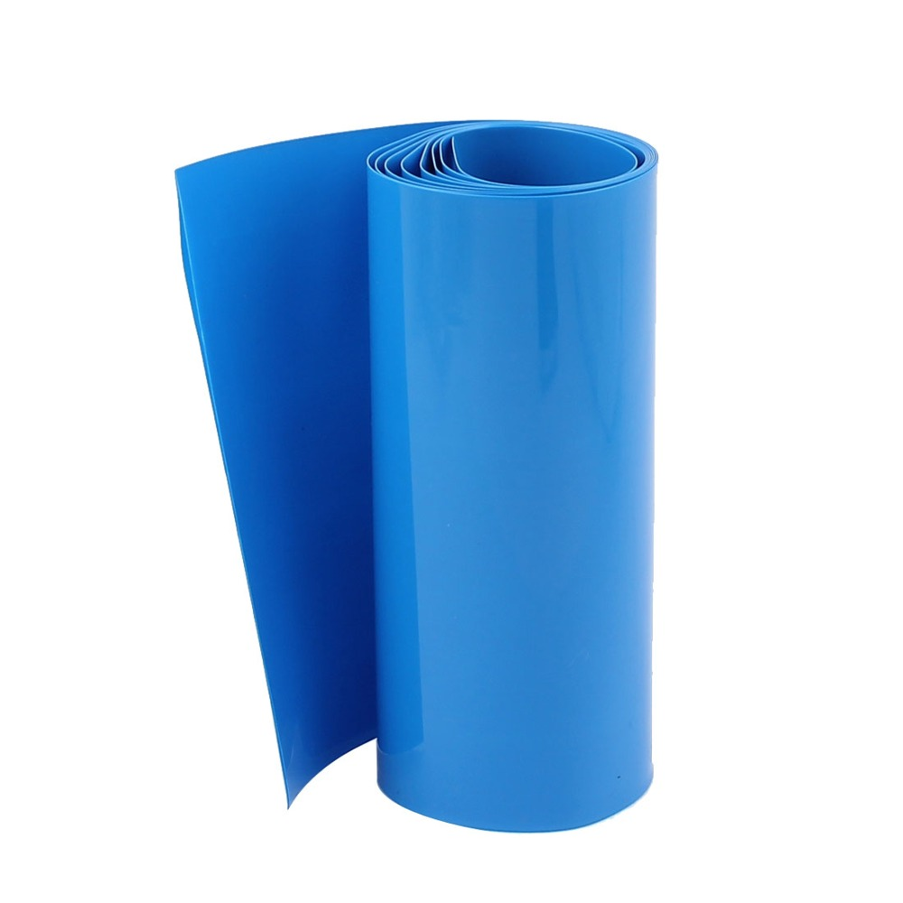 Uxcell 1M/3.3ft 103mm Width White/Blue/ PVC Heat Shrink Tubing for 18650 Battery Insulation casing shrink Hot Sale