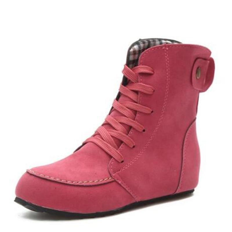 Grande vert Mode Up khaki Botte Moyen Chaud Rétro Lace Mm195 Chaussures Taille Simple Courte Femmes Noir rouge Plat Haute Qualité Loisirs Bottes FSdFxRAwq