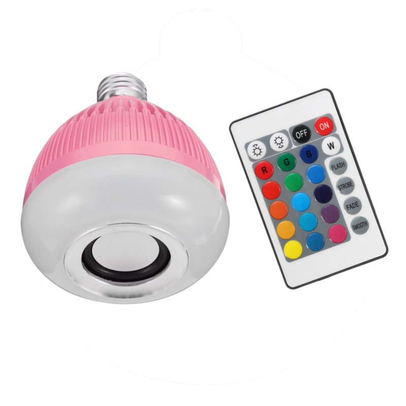 Home Decoration LED Lamp Bulb E27 12W RGB Wireless Bluetooth Speaker Music Smart LED Light Bulb With Remote Control AC110-240V lightme smart e27 light bulb intelligent colorful led lamp bluetooth 3 0 speaker for home stage energy saving led light bulbs