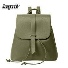 Aequeen Для женщин Рюкзаки из искусственной кожи Повседневное Рюкзаки на ремне, школьный Студент девочка-подросток Mochila Escolar рюкзак сумка