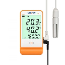 Elitech Temperature and Humidity Data Logger Recorder 16000 Points for Refrigeration Cold Chain GSP-6