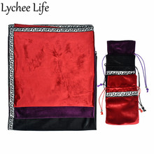 Mantel de mesa cuadrado de Tarot de Color sólido de terciopelo 64x64cm ropa de mesa de fiesta clásica suministros para el hogar