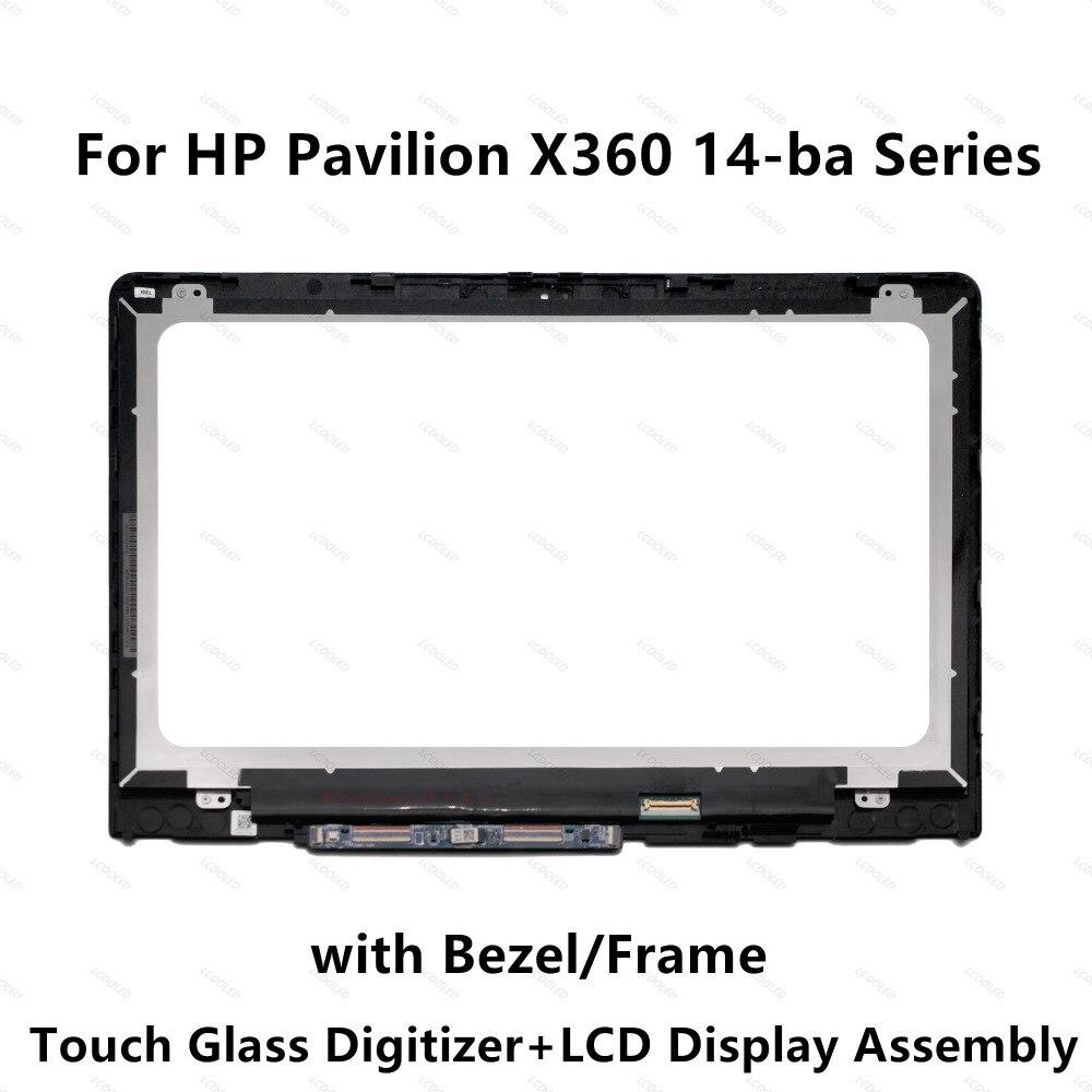 For HP Pavilion X360 14 ba006la 14 ba008la 14 ba009la 14 ba010la N140HCE EBA LCD Display