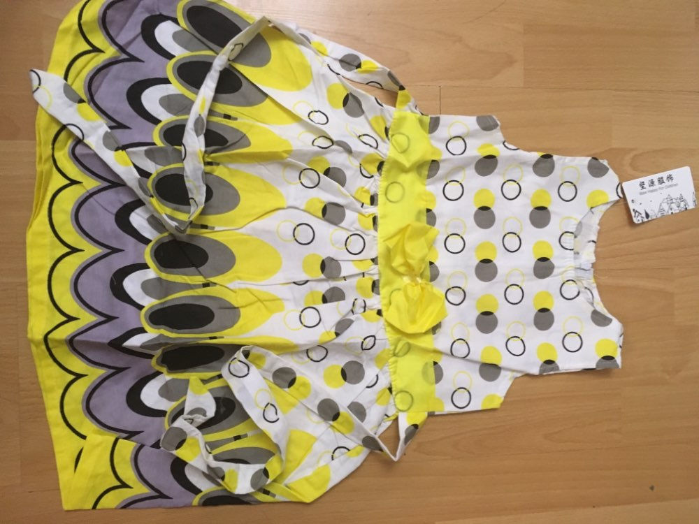 TANGUOANT Girl dress, Princess Bow Belt dress Circle Bubble Peacock print kids clothes, girl's Party dresses 2-11Y free shipping