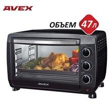 47 литров, Гриль, Мини-духовка AVEX TR 490 B, решетка, ухват, противень, мощность 2000 Вт, таймер 60 минут