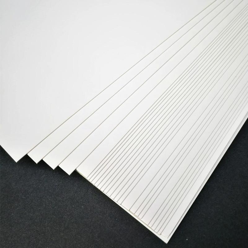 50 шт./лот A3 A4 A5 белая крафт-бумага DIY для изготовления открыток 120 г 180 г 230 г 300 г 400 г крафт-бумага плотная бумажная доска картон