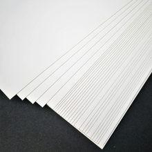 50 unids/lote A3 A4 A5 de papel Kraft blanco hacer Tarjeta de DIY 120g 180g 230g 300g 400g papel de Arte de cartón