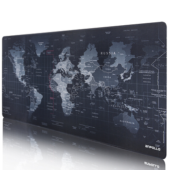 JIALONG Black World Map Mouse Pad Non-slip Rubber Muismat Gaming Mouse Pad 90*40cm Large Speed Mousepad Mat For Mause Pad Gamer
