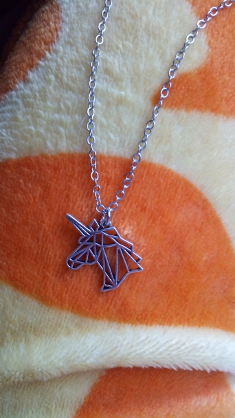 Silver Unicorn Head Necklace Birthday Gift Jewelry photo review
