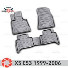 Для BMW X5 E3 1999-2006 Коврики для пола Нескользящая полиуретановая предохранение от грязи интерьерные Аксессуары для автомобилей