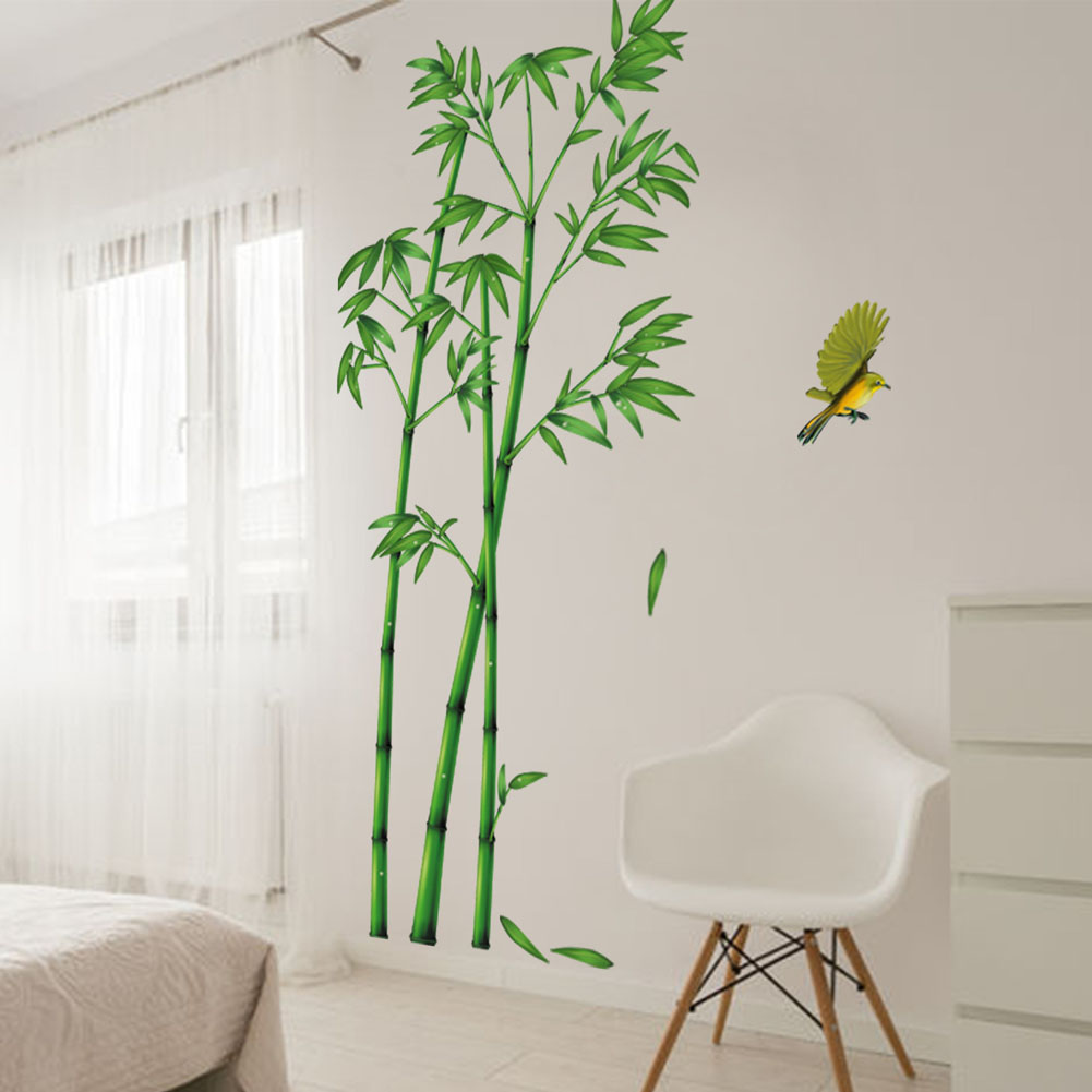 Vert Bambou For T Stickers Muraux Pvc Mat Riel Films D Coratifs  # Salon Meuble En Vert