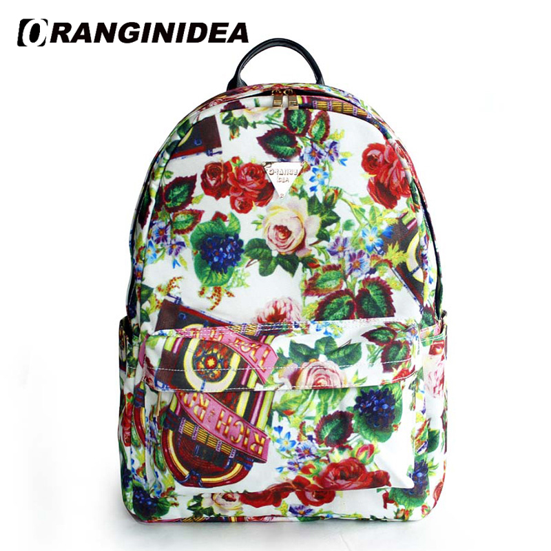 Backpacks Women Floral Printing Backpack for Teenager Girls School Bags Canvas Laptop Travel Rucksack Bagpack mochila mulher sac new canvas backpack travel bag korean version school bag leisure backpacks for laptop 14 inch computer bags rucksack
