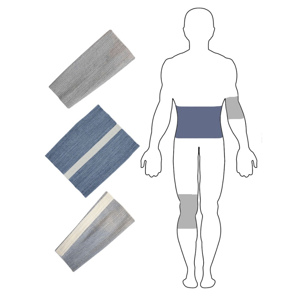 Set of bandages health XXXL with wool sheep, warming belt bandage on the elbow, knee bandage, beauty and health, EcoSapiens medical belt for waist and back with wool sheep compression belt corset for the back ecosapiens