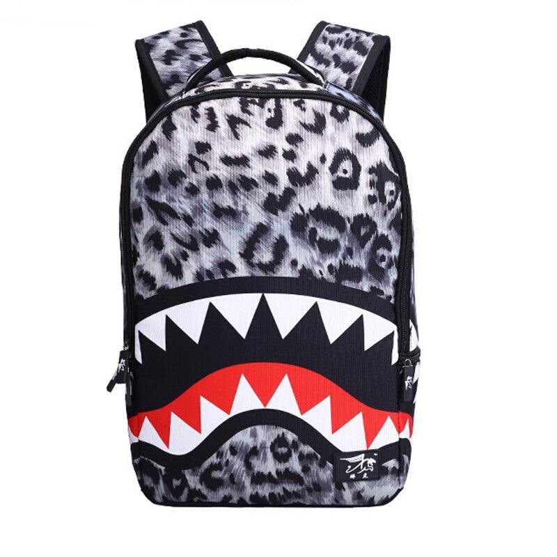 d5f5c3dc4 Comprar Nova Moda Leopardo Mulheres Senhora Mochila Sacos Dentes De ...