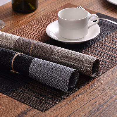 2pcs PVC Vinyl Place mats for Dining Table, Heat-resistant, Waterproof Kitchen Eat Mats TPM-04