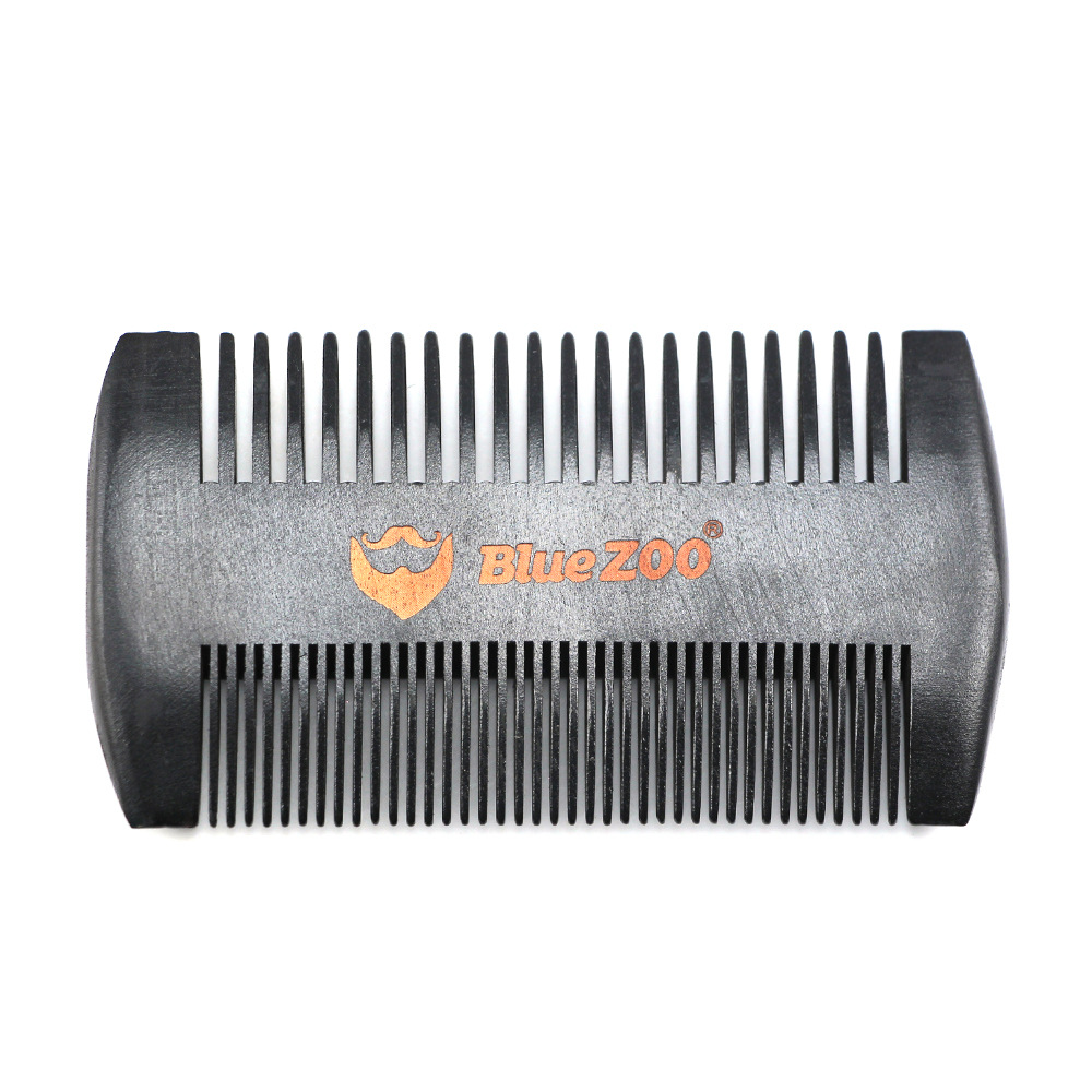 Black Wooden Comb Anti-Static Beard Comb Brush Mustaches Pocket Wood Comb Black and Brown Colors Protective Cover 1