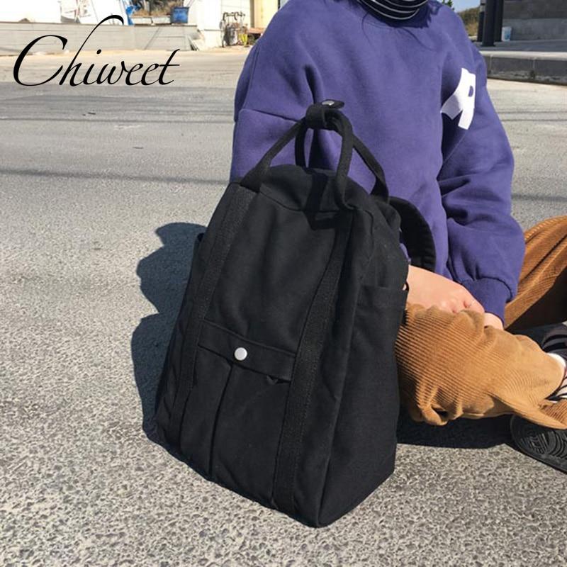Brand Women Laptop Backpack Large School Designer Backpacks For Student Casual Satchel Canvas Girls Teenager Female Travel Bags