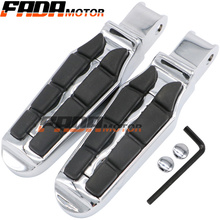 Front Foot Pegs Footrest for Honda VTX 1800CF 1300C 02-09 Shadow VT1100 Sabre Spirit 99-07 ACE Aero VT750 00-15 (097)
