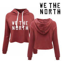 We the North Toronto Women's canada pullovers . 80s 90s 00s girls fashion sexy cropped hoodies(China)
