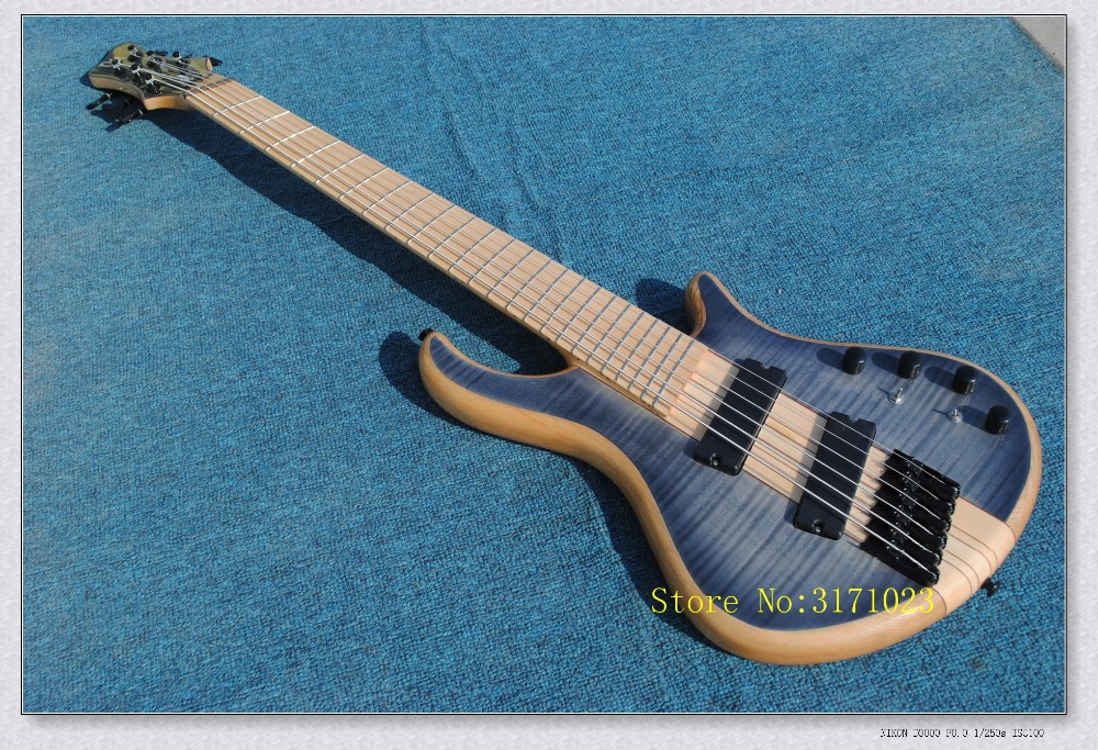 цены 2017 hot selling 6 string bass guitar.OEM retail new 6 strings electric bass guitar EMS free shipping