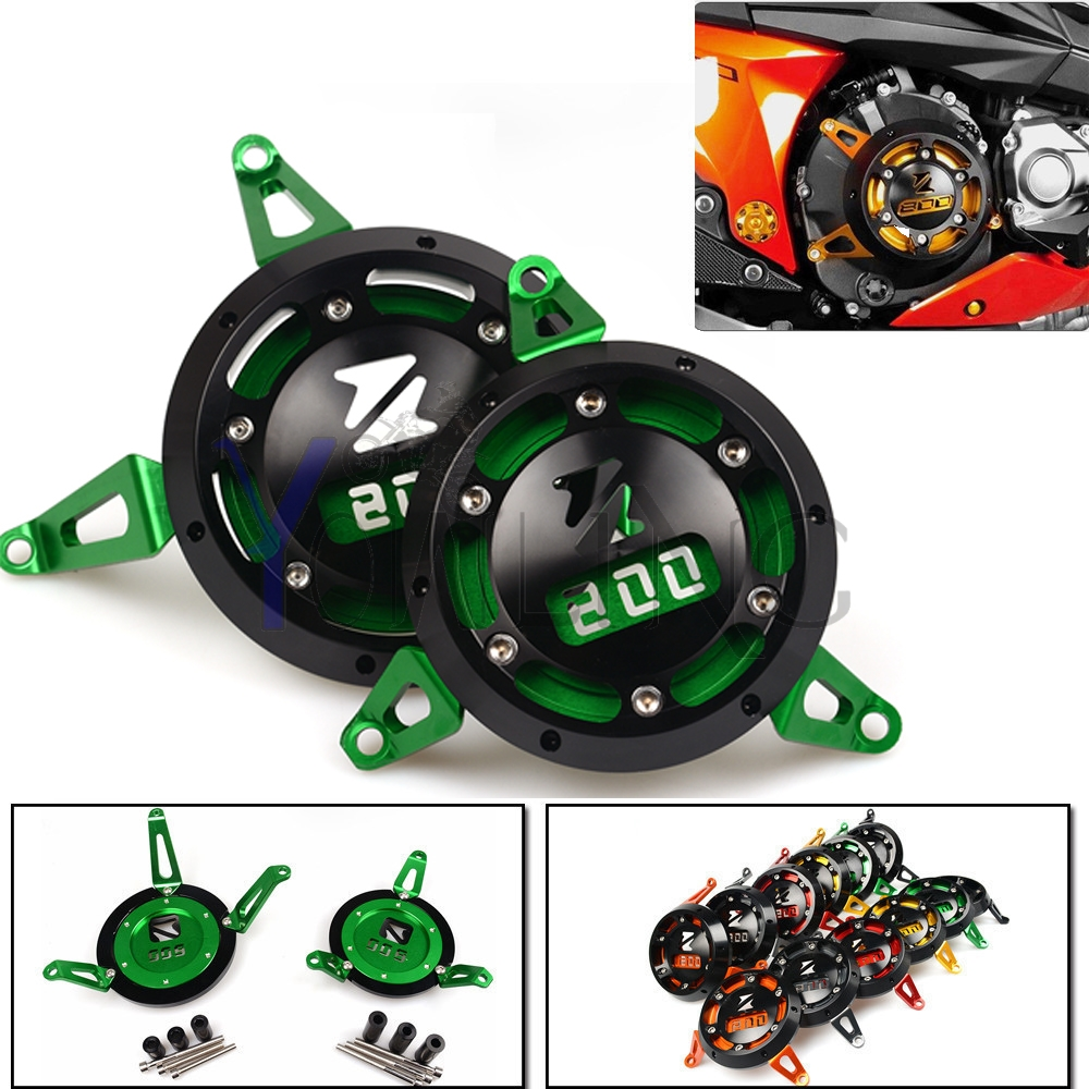 For KAWASAKI Z800 Style Motorcycle Engine Stator Cover CNC Engine Protective Guard Left & Right Side Protector z 800 (2013-2017) for kawasaki z750 motorcycle engine stator cover aluminium alloy engine guard protector with z750 logo for z750 2013 2014 2017
