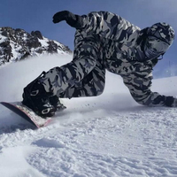 New Premium Edition Southplay Winter Season 10,000mm Waterproof Ski Snowboard (Jacket + Pants)Suit Sets White Camo Military