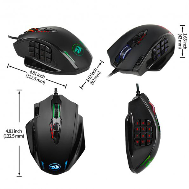 Redragon M908 IMPACT Gaming Mouse 3