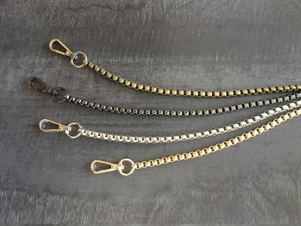 Metalen ketting voor schoudertassen Handtas gesp handvat DIY riem voor tas riem accessoires Hardware dubbele geweven ijzer portemonnee keten photo review