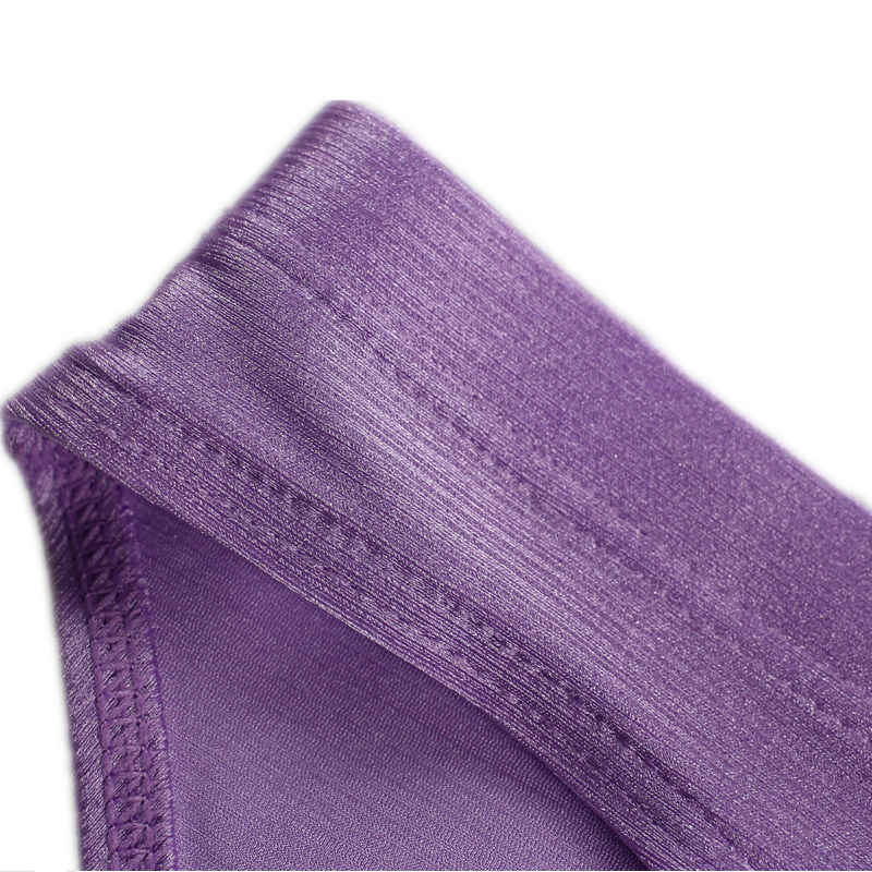 Katı külot külot erkekler seksi erkek iç çamaşırı buz ipek külot eşcinsel üçgen külot Bulge kılıfı Jockstrap Bikini iç çamaşırı
