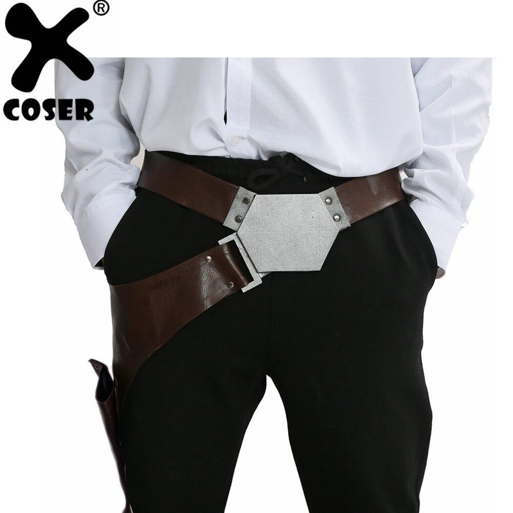 Han Solo Belt Harness Set Strap Holster Holder Star Wars Cosplay Costume Prop