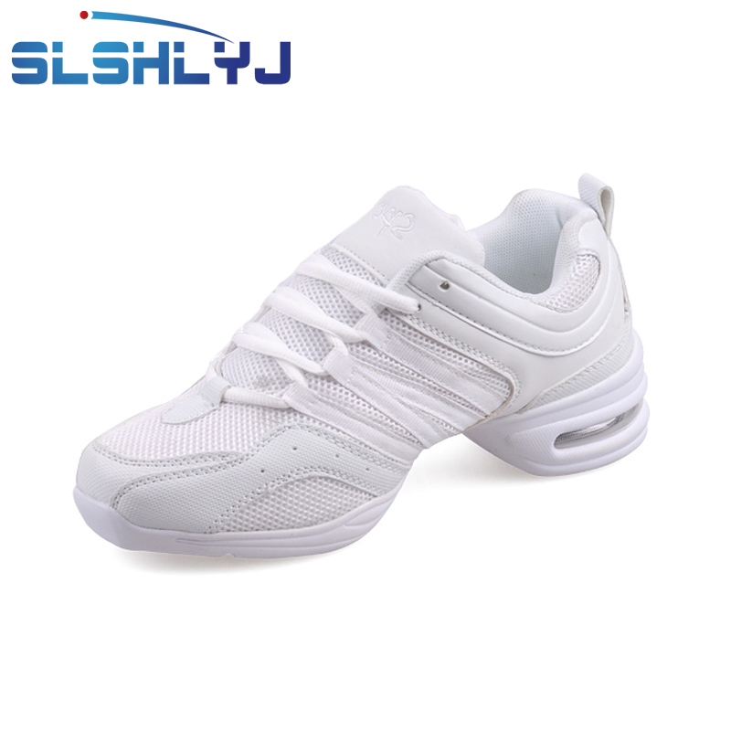 SLSHLYJ Sports Soft Breath Dance Shoes Sneakers For Woman Practice Shoes  Modern Dance Shoes Discount Sneakers white Red black -in Dance shoes from  Sports ... b9811383bfda
