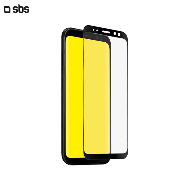 Защитное стекло 2.5D Full Screen для Samsung Galaxy A8 (2018), черная рамка, SBS