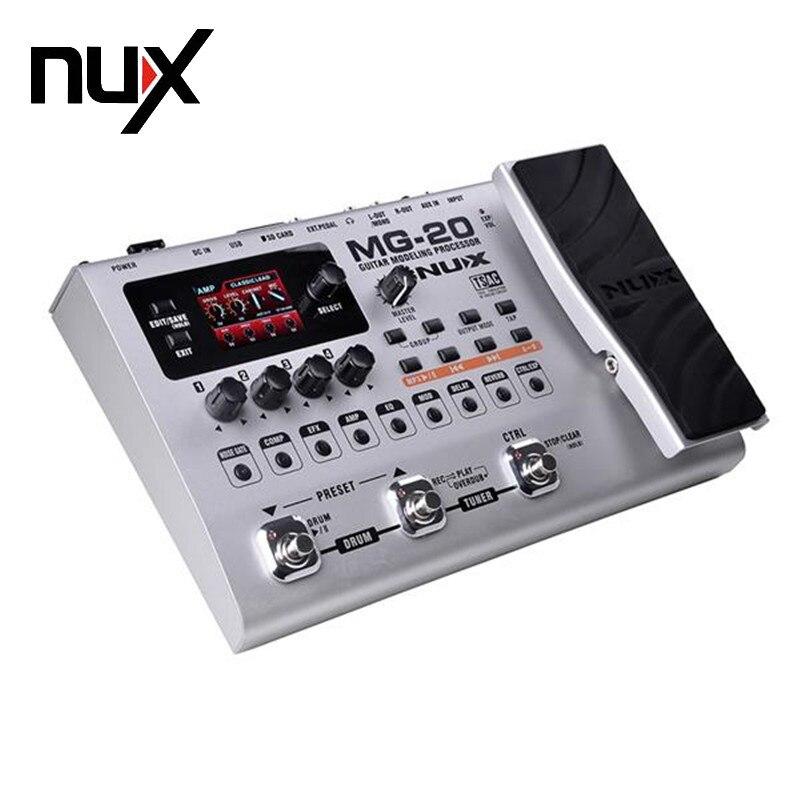 NUX MG-20 Électrique Guitare multi-effets Pédale Guitarra Modélisation Processeur avec Tambour Machine UE Plug