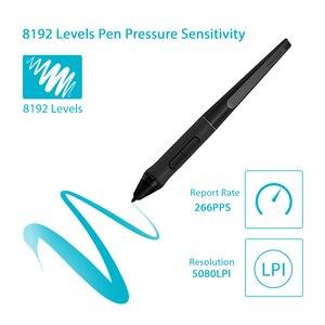 Image 5 - قلم EMR بدون بطارية HUION PW500 8192 مستوى لأقراص القلم الرسومات الرقمية مع اثنين من مفاتيح مخصصة الجانبية