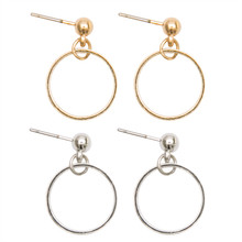 The new fashion design simple geometric hyperbole big circle ear nail female eardrop tide
