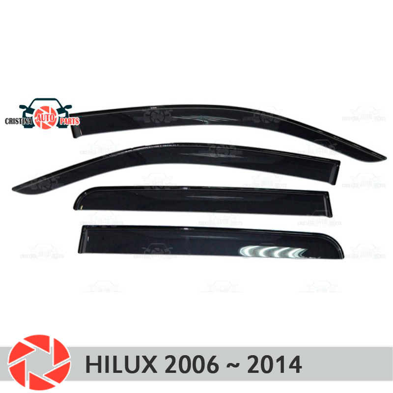 цена на Window deflector for Toyota Hilux 2006~2014 rain deflector dirt protection car styling decoration accessories molding