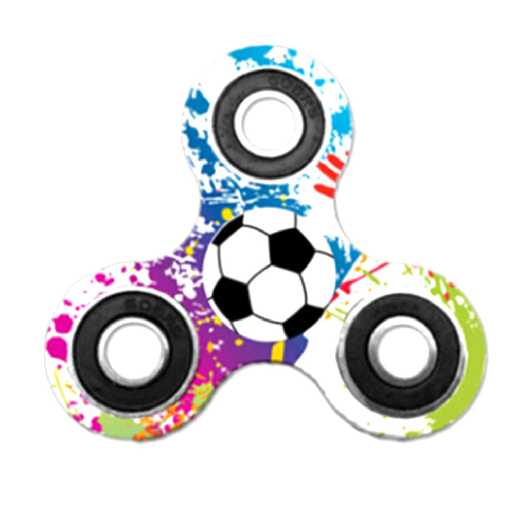 Fidget Spinner Single Football Creative Decompression Finger Gyro Autism Focus Stress Reliever Toys For Kids Adults