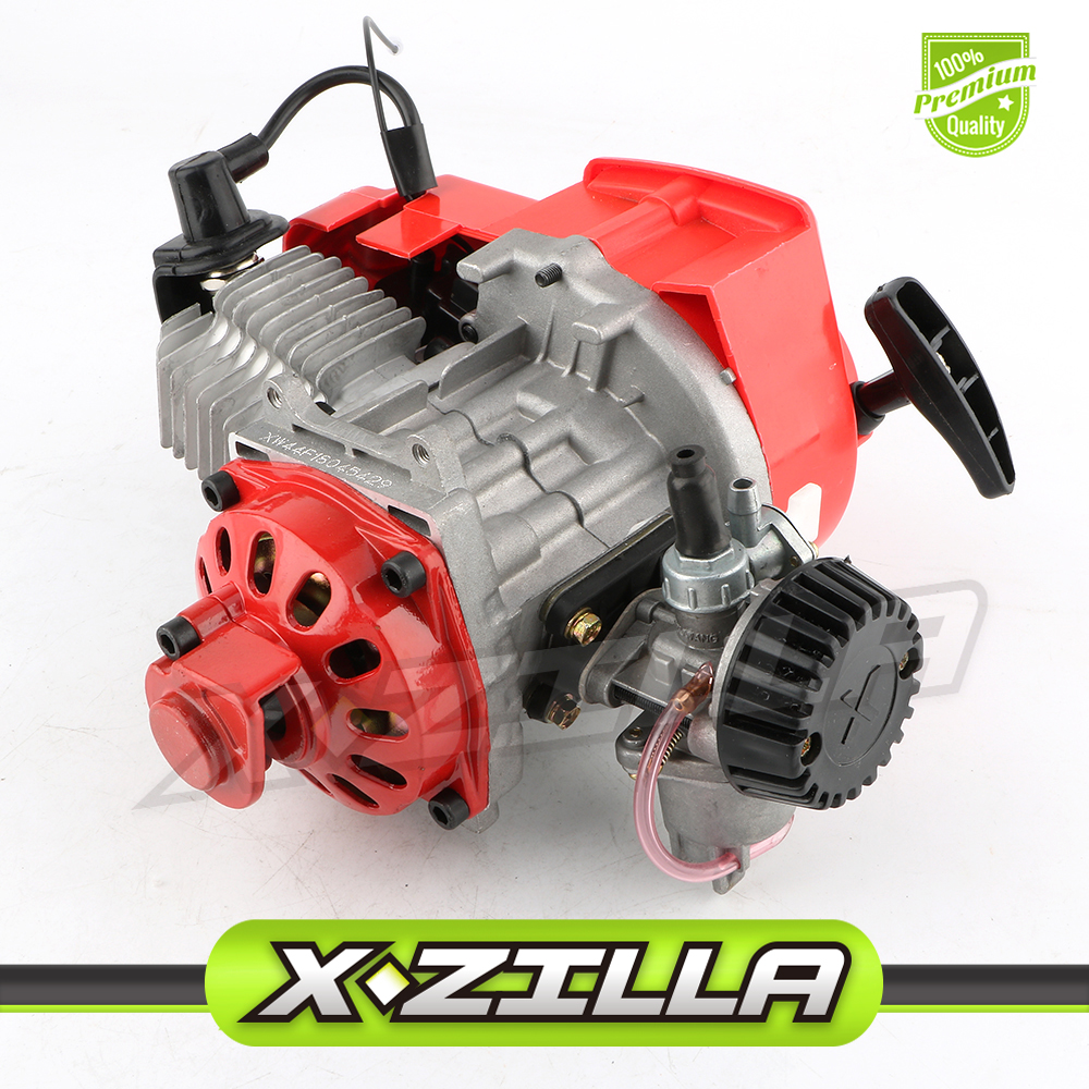 2 Stroke Engine Motor with Gear Box for 47CC 49CC 50CC Mini Pocket Bike Gas ATV Quad Bicycle Dirt Pit Bikes Motorcycle Parts 44mm cylinder piston spark plug gasket big bore kit for 47cc 49cc 2 stroke mini dirt bike mini atv quad pocket bikes mini moto