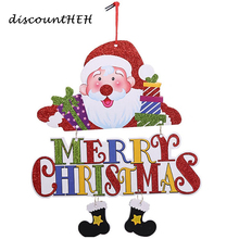 New Arrival DIY Funny Santa Claus Snowman Merry Christmas Letter Charms Christmas Decoration Pendant