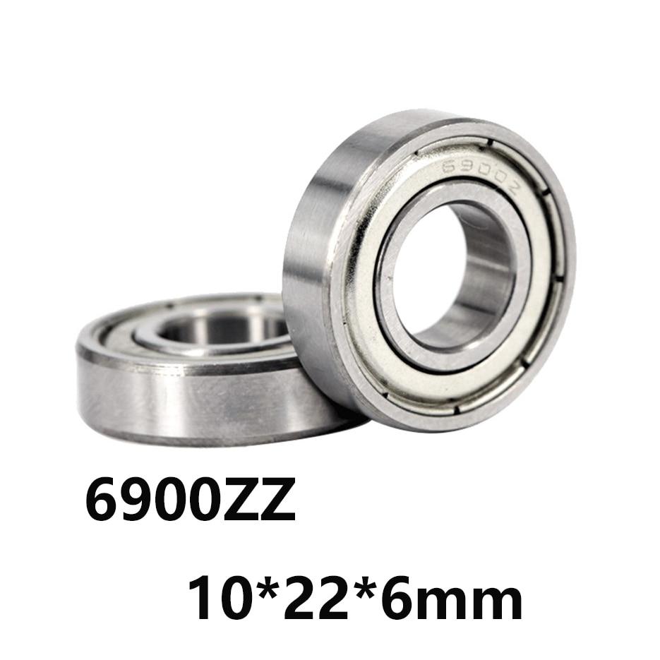 New 5pcs Flange Ball Bearing F6900ZZ 10*22*6 mm Metric flanged Bearing