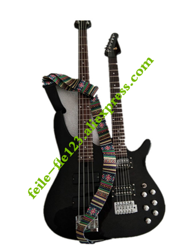 4string electric bass 6string electric guitar double end bass guitar in guitar from sports. Black Bedroom Furniture Sets. Home Design Ideas