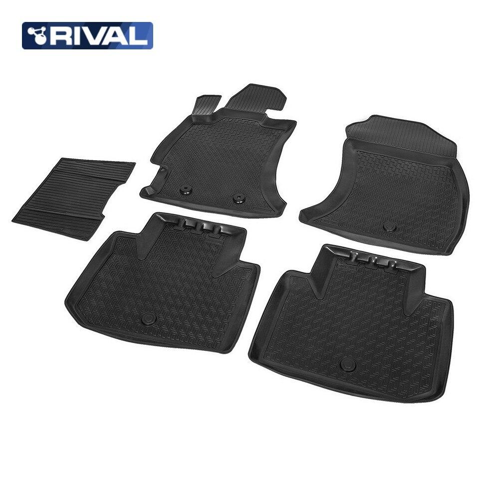 For Subaru Forester 4 2013-2018 floor mats into saloon 5 pcs/set Rival 15401001