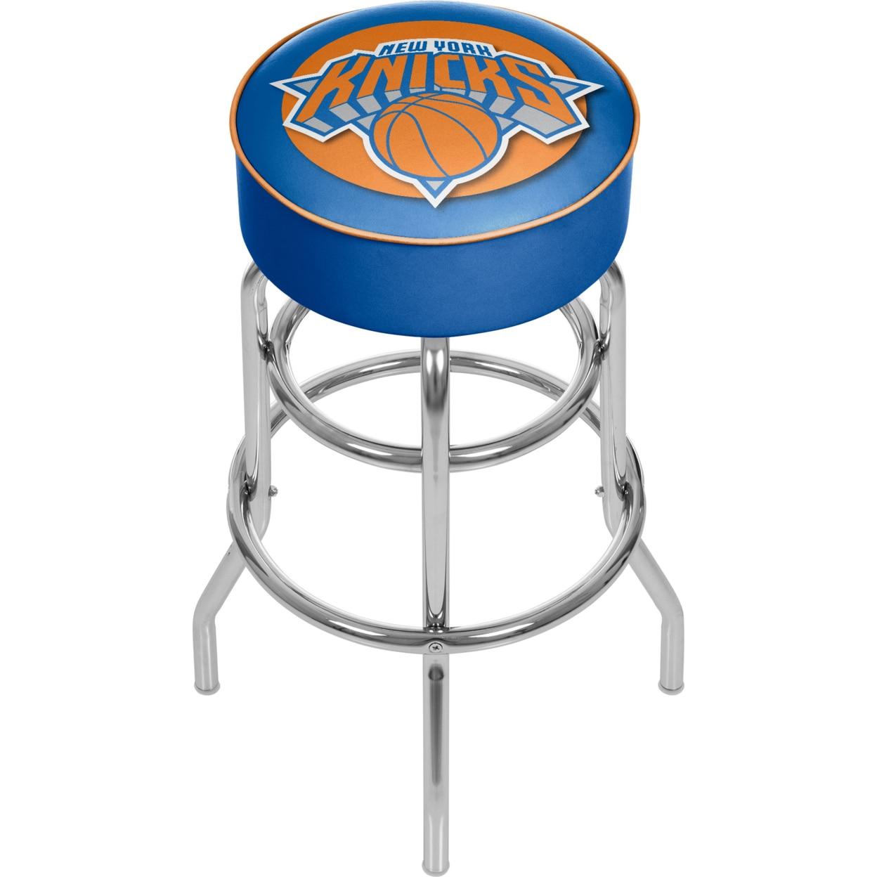 New York Knicks NBA Padded Swivel Bar Stool 30 Inches High футболка print bar new york apple