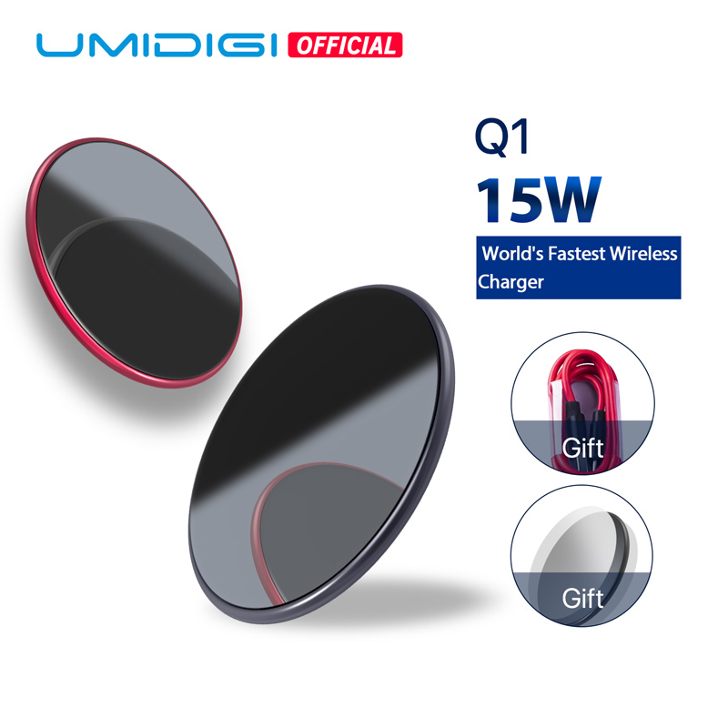 UMIDIGI Q1 15 watt Drahtlose schnellste Ladegerät für Samsung Galaxy S9 S8 S7 Drahtlose Ladegerät für iPhone 8/X /8 Plus Drahtlose Aufladen Pad
